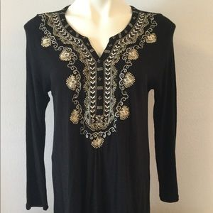 🆕 Lucky Brand Embroidered Tunic